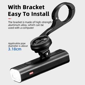 Image 5 - ROCKBROS 400/800 루멘 자전거 전면 빛 방수 자전거 LED 빛 손전등 USB 충전 MTB 도로 자전거 헤드 라이트 투광 조명