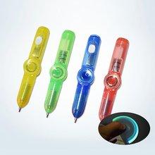 LED Spinning Pen długopis Fidget Spinner Hand Top blask w ciemnym świetle EDC zabawki antystresowe zabawki dla dzieci prezent biuro szkolne Supplie tanie tanio NONE CN (pochodzenie) plastic 8*50mm random
