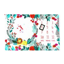 Little Lion Printing Pattern Infants Milestone Photography Blanket Baby Creative Photo Background Cloth Decoration