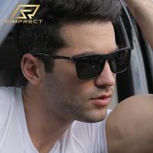 SIMPRECT Polarized Sunglasses Men 2020 Aluminum-Magnesium Mirror Square