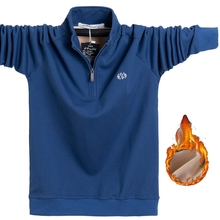 Tees Polo-Shirt Top Long-Sleeve Male Plus-Size Men's Cotton High-Quality Warm Autumn