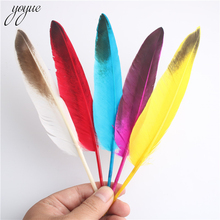 Wholesale 10 Pieces / Batch Natural Pheasant Feathers 6-8 Inches/15-20 Cm Goose Feather DIY Clothing Decor Accessories Plume