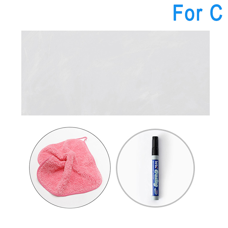 Erase Whiteboard Sticker Wall Decal Self-adhesive White Board Peel Stick Paper for School KQS8 image