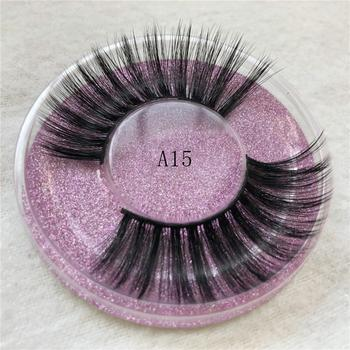 Makeup Eyelashes 3D Mink Lashes Thick Cross Mink Eyelashes Fluffy Natural Long Lashes Dramatic Big Eyelash Extension image