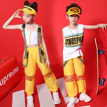 Hip Hop Dance Costumes Girls Boys Street Dancing Clothes Children Jazz Modern Stage Performance Wear Kids Rave Outfit DNV12107(China)