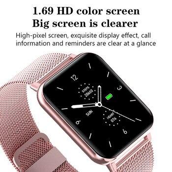 LIGE 2021 New Full Touch Screen Smart Watch Women Sports Heart Rate Waterproof Fitness Smart Watches Women's Smartwatch relogio 5