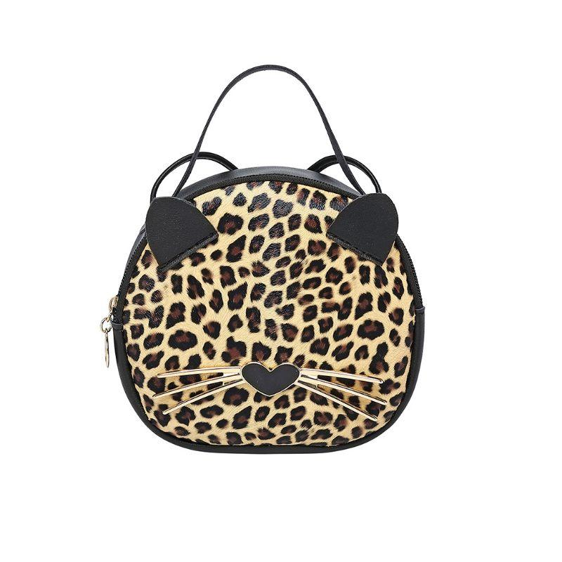 Female Adorable New Women PU Leather Cute Cat Ladies Girls Crossbody Small Handbag Satchel Purse Shoulder Bag