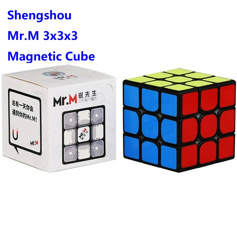 Sengso Shengshou 3x3 Magnetic Mr.M 3x3x3 Magnetic Magic 3Layers Speed Cube Professional Puzzle Toy For Children Kids Gift Toy