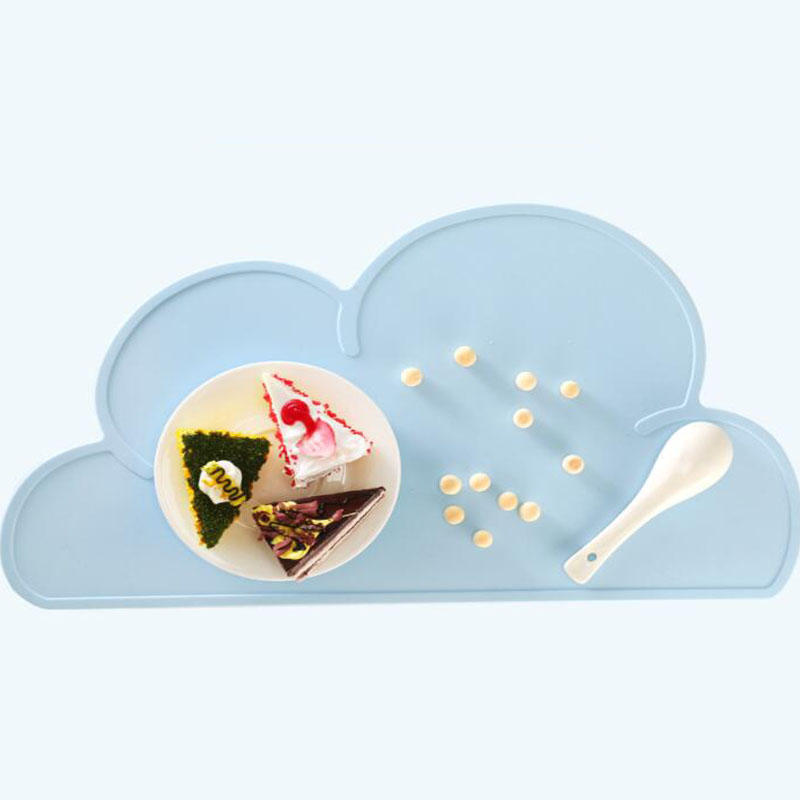 Cloud/Square Shape Placemat Kids Plate Mat Food Grade Silicone Table Pad Waterproof heat insulation Kitchen gadget Easy Cleaning