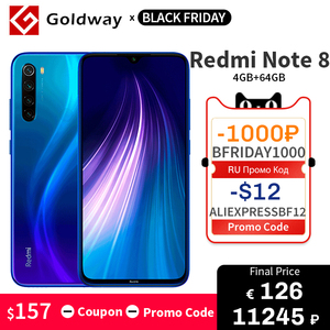 Global Version Xiaomi Redmi Note 8 4GB 64GB Smartphone Snapdragon 665 Octa Core 48MP Quad Rear Camera 4000mAh 6.3