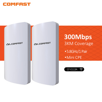 2pcs 3km 300Mbps Comfast CF-E113A High Power Outdoor Wifi Repeater 5GHz Wireless Wifi Router AP Extender Bridge Nano station AP цена 2017
