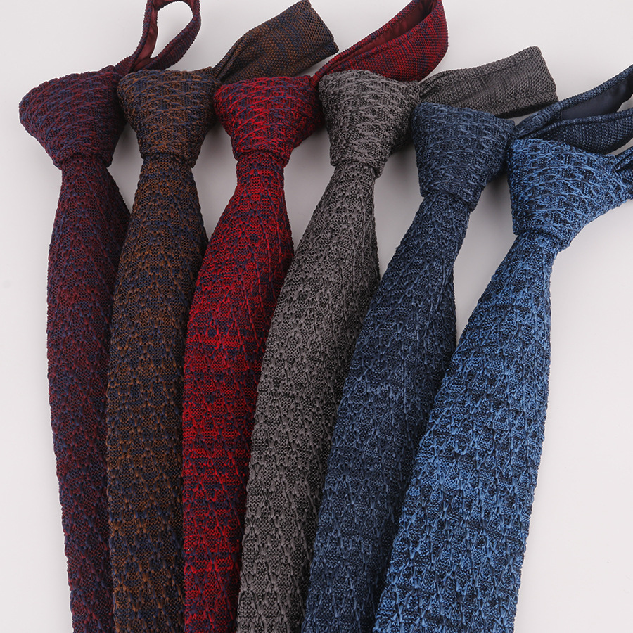 Brand New Man Fashion Men's Colourful Vintage Tie Knit Knitted Ties Necktie Narrow Slim Skinny Woven Cravate Narrow Neckties