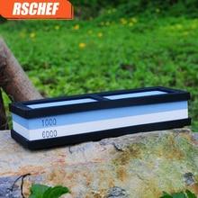 RSCHEF 400/1000/3000/8000 grit knife sharpener whetstone sharpening stone grinding tools oilstone for a kitchen