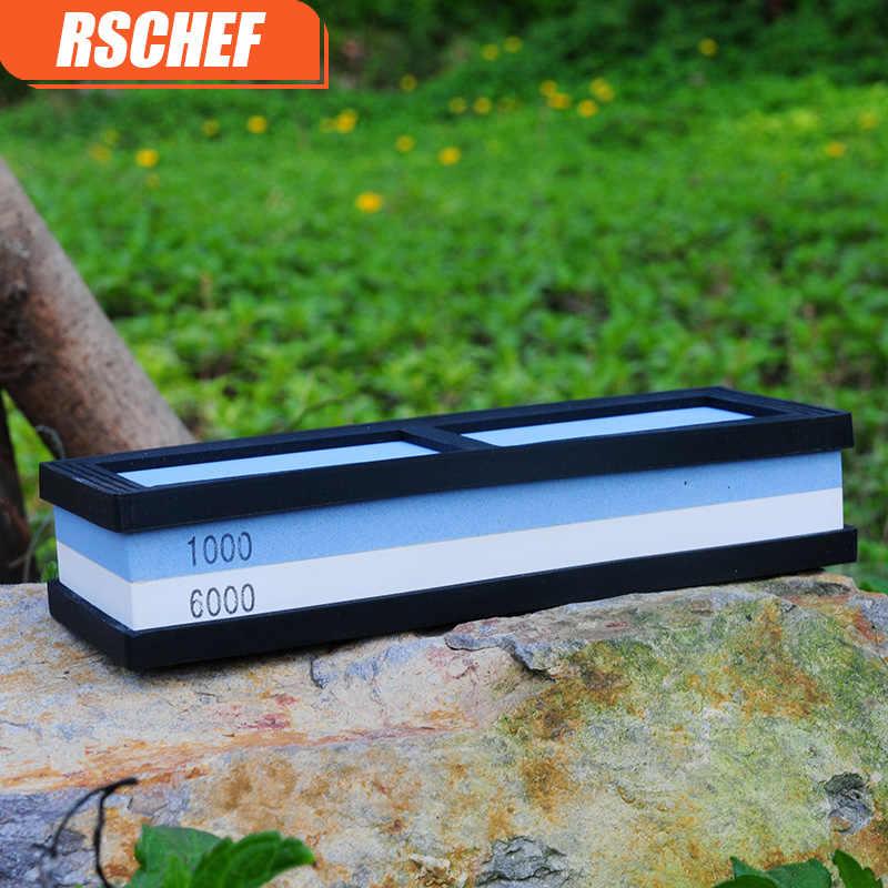 RSCHEF 400/1000/3000/8000 حصى سكين مبراة المشحذ شحذ الحجر أدوات طحن حجر النفط شحذ للمطبخ سكين