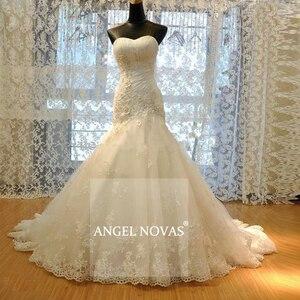 Женское свадебное платье ANGEL NOVIAS, длинное винтажное платье с кружевами в стиле Русалочки, свадебное платье со шнуровкой, модель 2020
