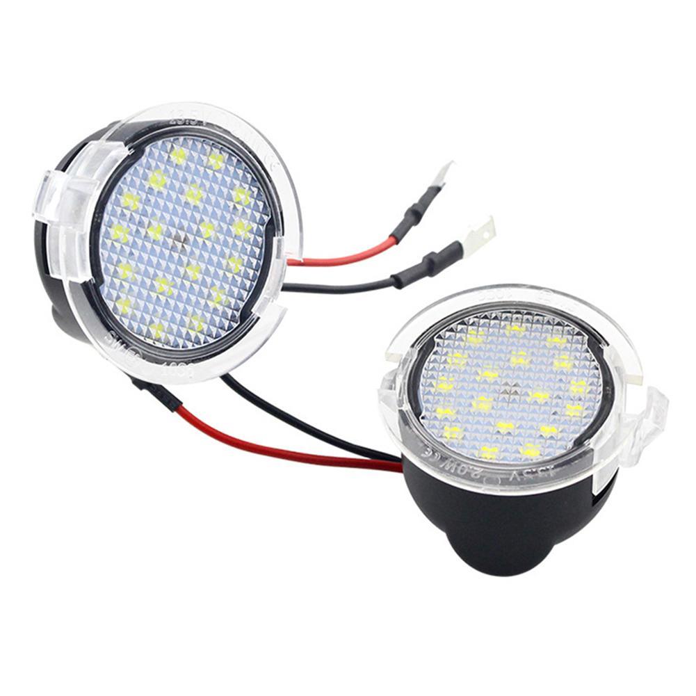 2pcs LED Under Side Mirror Lights Puddle Lamps for Ford Edge Mondeo Explorer 6500K Cornering Lamp 50,000 Hours Floor Lamp