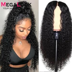 Curly Human Hair Wig Lace Front Human Hair Wigs For Black Women 30 Inch Lace closure Wig Remy 180% Peruvian Curly Closure Wig(China)