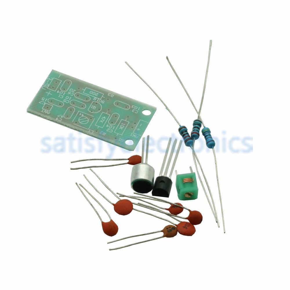送料無料 Fm トランスミッタモジュールミニワイヤレスマイクアマチュア無線周波数 PCB ボード 91-103MHz 3V 5V dc DIY