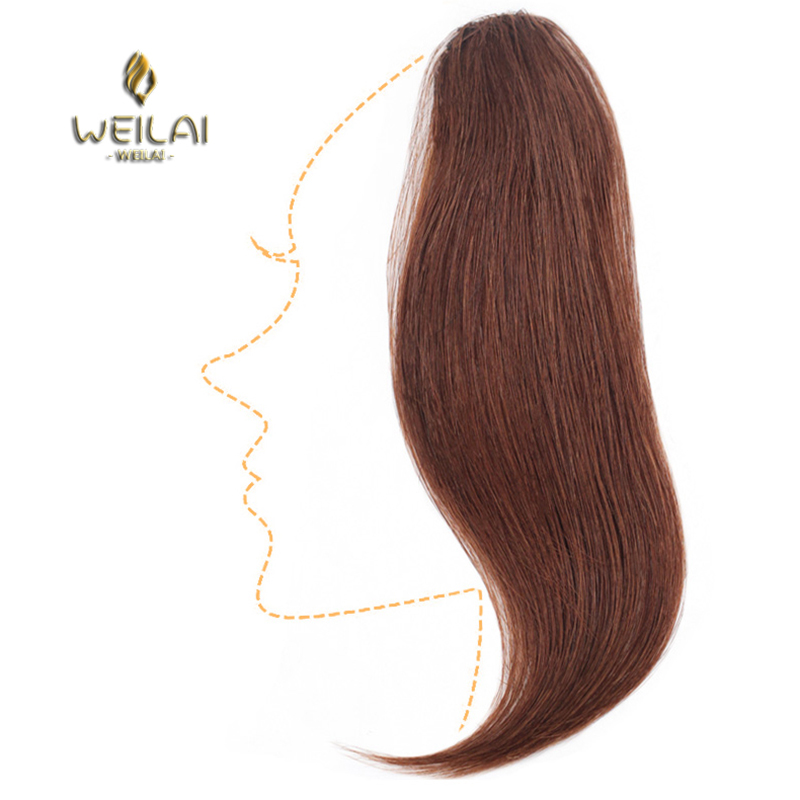 WEILAI Long Clip In On The Front Hair Bang Side Bangs Extension Of Hair Real Natural Synthetic Bangs Hair Piece
