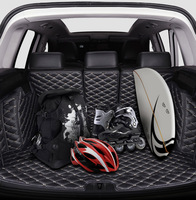 Car All inclusive Rear Trunk Mat Car Boot Liner Tray Rear Trunk Accessories For Ford Escape Kuga 2014 2015 2016 2017 2018 2019