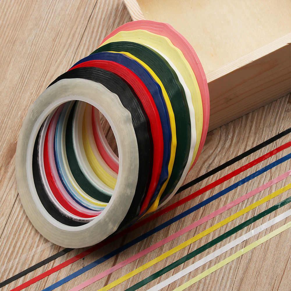 66m Multicolor szerokość 3mm 5S wodoodporne taśmy pozycjonujące na biurko bez śladu tablica ostrzegawcza rysowanie linii znakowanie taśmy siatkowej