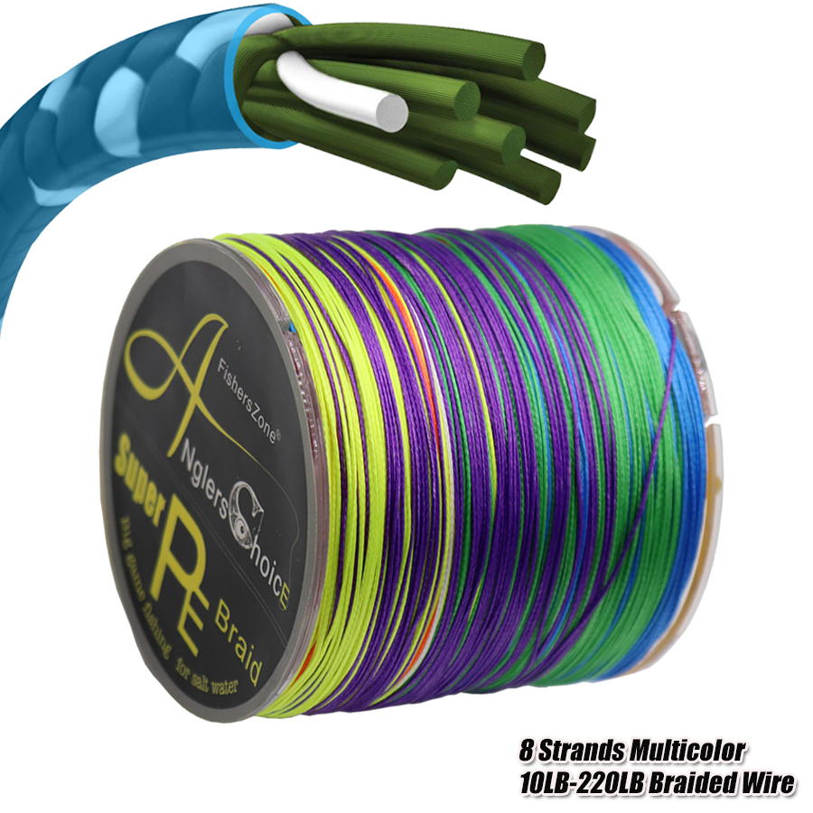Braided Wire PE Braided 8 Strands 10-220LB PE Braided 0.1-1mm Multifilament Fishing Line for Carp Fishing Wire for All Fishing