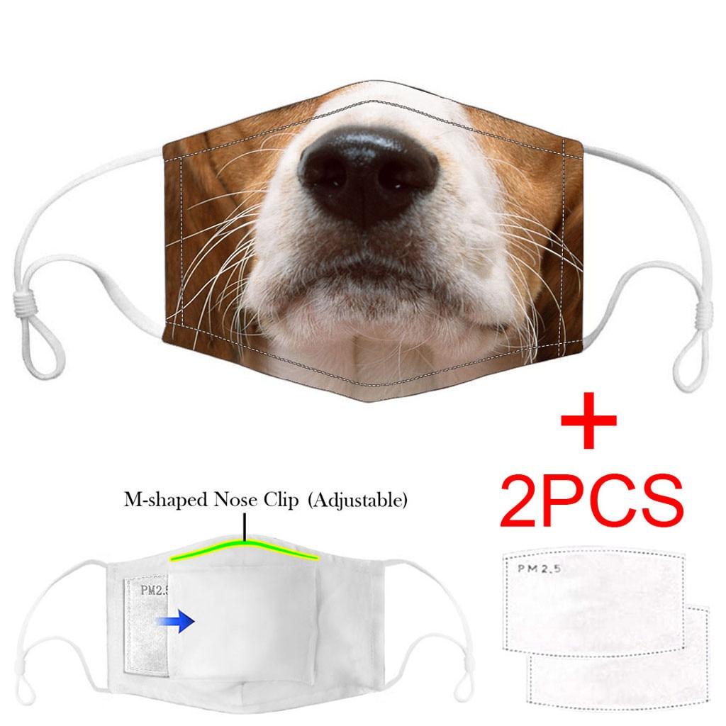 3PCS Adult maska facemask Carbon Insert Funny print cotton Washable Reusable masque mascherine Innrech Market.com