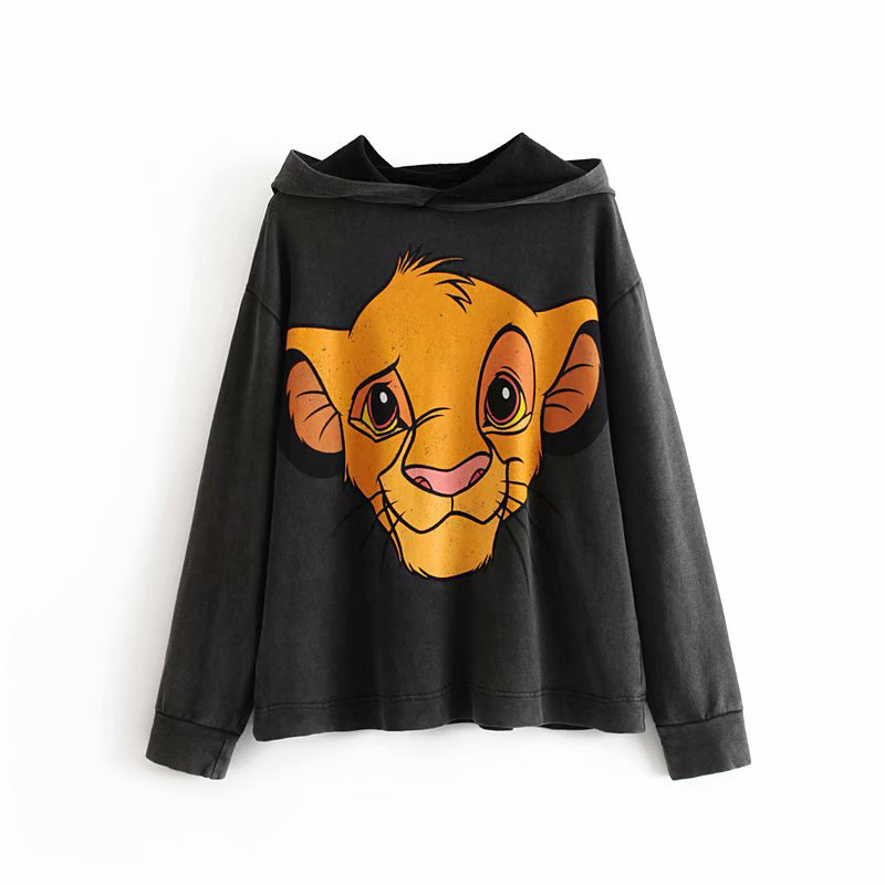 ON95 New Style WOMEN'S Dress Lion King Printed Hoodie
