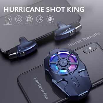 Multi-function Adjustable Gear Low Noise Moible Phone Shooting PUBG Cooler Game Radiator Gaming Controller Heat Sink Holder