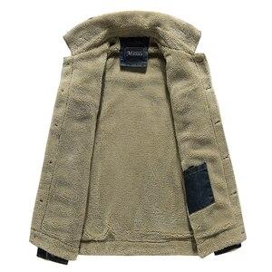 2020 Мужская зимняя теплая джинсовая куртка из плотного флиса с добавлением шерсти Повседневная куртка с подкладкой мужские куртки Брендовы...