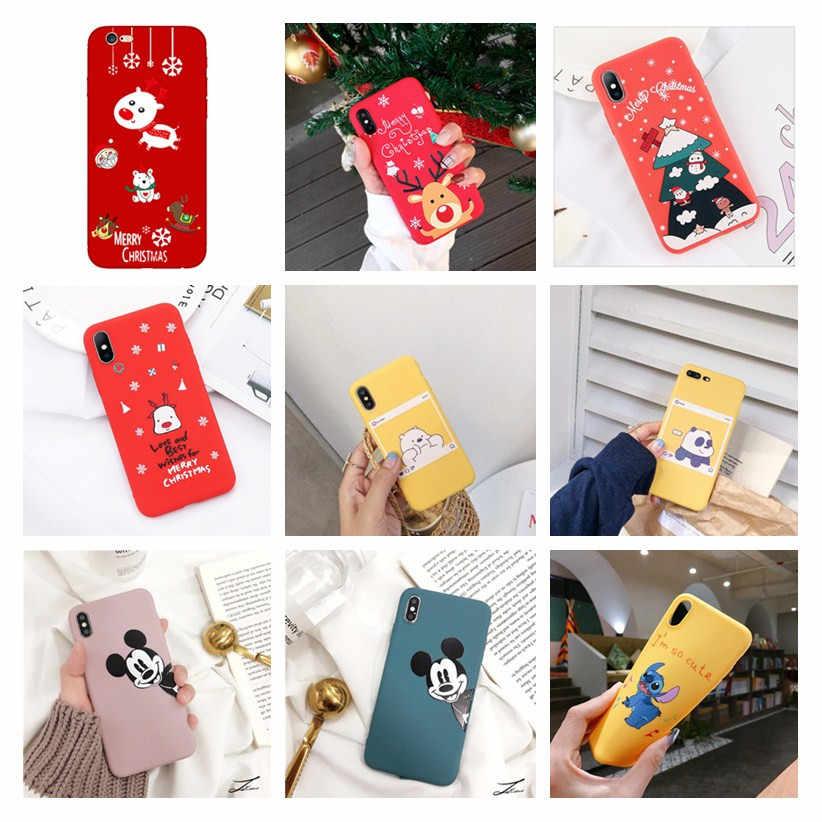 คริสต์มาสสำหรับ Xiao mi สีแดง mi หมายเหตุ 7 Pro สำหรับกรณี Xiao mi Xio mi mi 9 สีแดง mi 6A หมายเหตุ 4 4X กลับโทรศัพท์ Capa