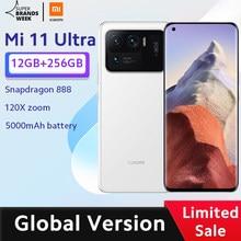 Versão global xiaomi mi 11 ultra smartphone 12gb ram 256gb rom snapdragon 888 octa núcleo 50mp 120x zoom câmera 5000mah bateria