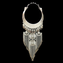 National style exaggerated large collar female pendant womens necklace Miao silver jewelry pendant wholesale pusheen bijuteria