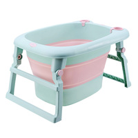 2in1 Baby Bath Seat and Tubs Foldable Infant Newborn Children's Tub Babies Kids Bathtub Storage Baby Bath Tub for 0 10 Years Old