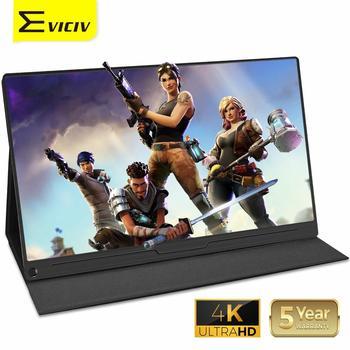 Monitor de ordenador portátil Eviciv 15,6 4K, pantalla externa IPS para ordenador portátil HDR, pantalla Dual 3840x2160 para teléfono PS4 Xbox HDMI DP
