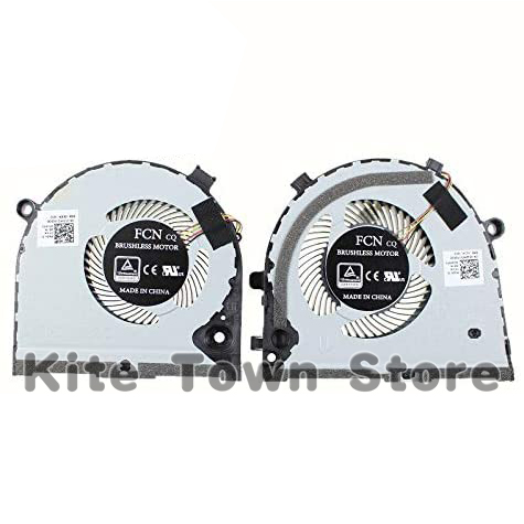 New original CPU GPU Cooling Fan for Dell G3 G3-3579 3779 <font><b>G5</b></font> <font><b>5587</b></font> 15 <font><b>5587</b></font> series cooling fan 0TJHF2 0GWMFV Pair Fans image