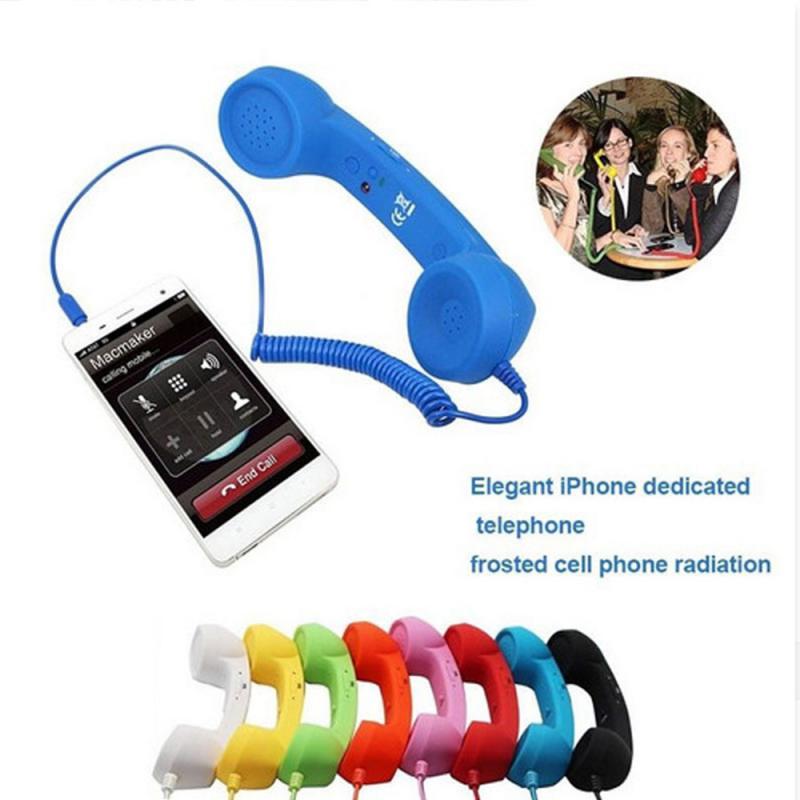 Novo receptor fone de ouvido clássico retro telefone receptor 3.5mm interface alto-falante do telefone móvel para o telefone com microfone