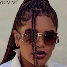 Gafas de sol remache Vintage de lujo para mujer, gafas de sol a la moda para hombre con marco grande Retro, gafas de sol Super Star Rihanna para mujer