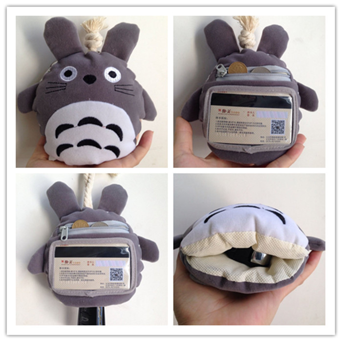 Korean-style Plush Girl'S Cartoon Key Totoro Cute Carrying Coin Purse Children Mini Purse Totoro Pencil Case