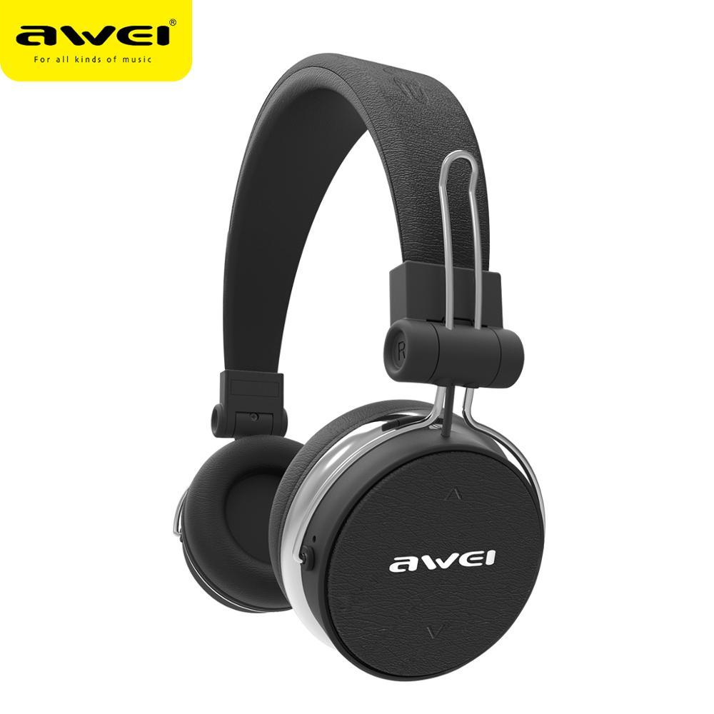 AWEI A700BL Bluetooth Headphones With Microphone Stereo Wireless Earphone Headset Casque Earpiece For Phone and Music Audifonos headphones with microphone wireless bluetooth headphone bluetooth headphone with microphone - title=