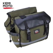 KEMiMOTO Motorcycle Bags Saddlebag Luggage Travel Knight Rider For Touring Triumph Bonneville Honda shadow