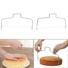 1 шт. резак для торта слайсер из нержавеющей стали выравниватель Регулируемый проволочный слой выпечка торта DIY Инструменты Высокое качество кухонные аксессуары