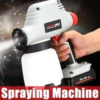 New Type Cordless Electric Spray Guns Lithium Battery Charging Latex Paint Spraying Machine Home Hotel Electric Paint Sprayer