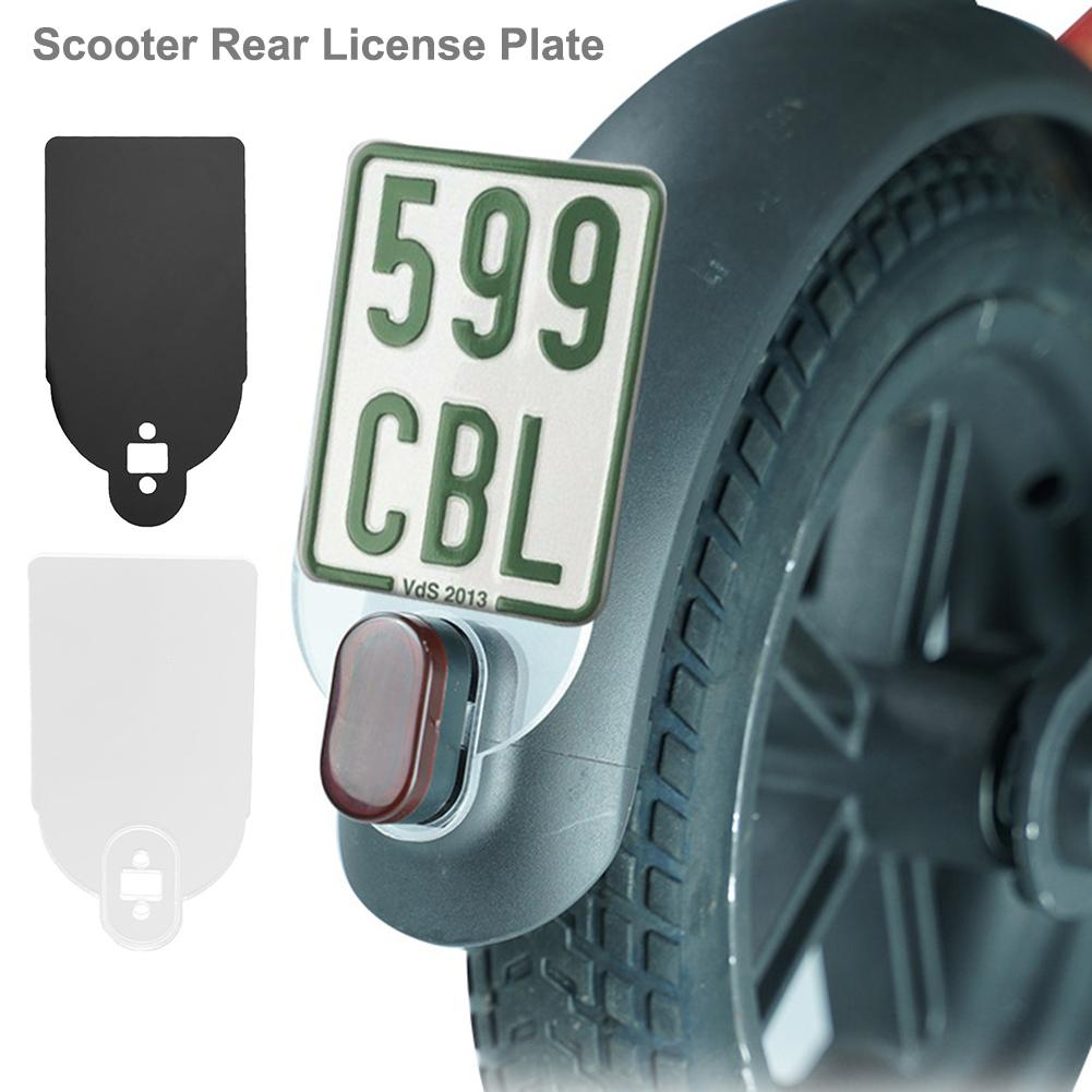 Scooter Rear License Plate Fender License Plate Plastic Number Plate Holder Warning Sign For Xiaomi M365 Scooter