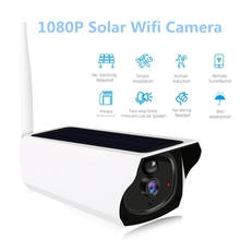 1080P Solar Wifi Camera Waterproof IP Camera Rechargeable Battery CCTV Security Surveillance with PIR Detection Night Vision