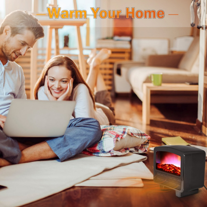 3D Electric Fireplace Small Electric Space Heater Vertical Home Retro Heaters Namely Hot Type Heaters Office Electric Heaters