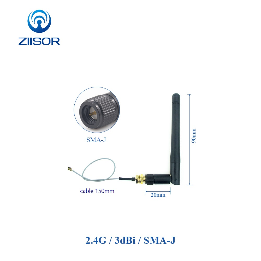 External <font><b>Wifi</b></font> Antenna with Cable IPEX IPX to Internal <font><b>2.4</b></font> <font><b>GHz</b></font> Internet Antenna for Communication 2.4G <font><b>Wifi</b></font> <font><b>Antena</b></font> with Pigtail image