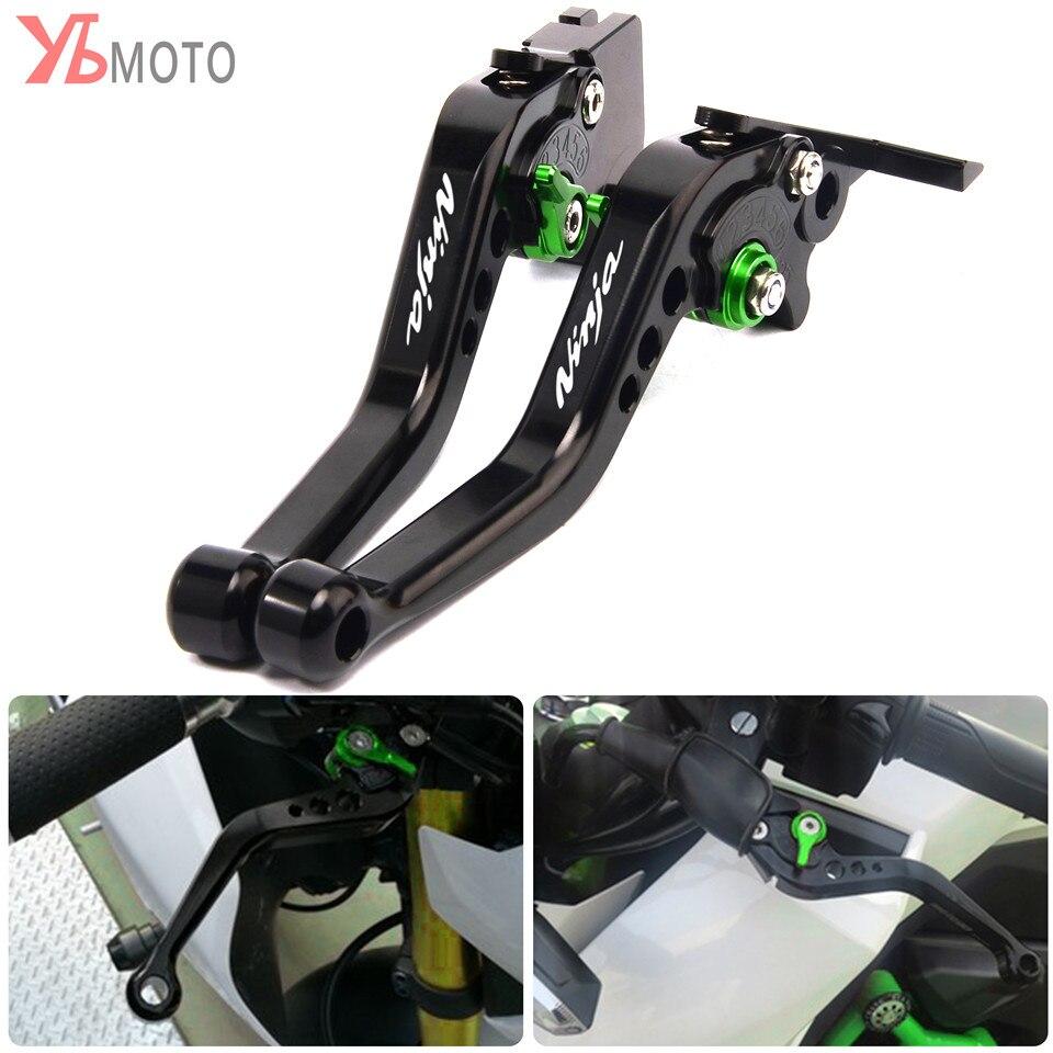 cnc dobravel extensiveis alavancas de freio de embreagem da motocicleta para ninja300 300r z250sl ninja250r z300