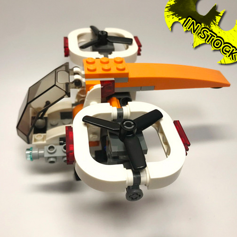In Stock Compatible Creator Series 31071 Drone Explorer Building Blocks Bricks Toys Model 11042 109pcs <font><b>31072</b></font> Plane image