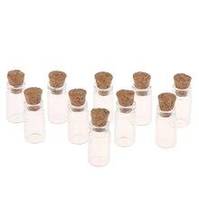 1:12 миниатюрный 1/10 шт. Дисплей Стекло бутылки баночки с пробкой для Еда хранения кукольный домик Кухня аксессуары